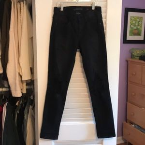 SP BLACK LABEL black jeans with knee rips